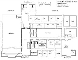 church floor plan church map