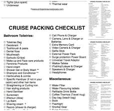 the ultimate cruise packing checklist entrepreneur u0027s odyssey