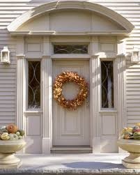 thanksgiving front door decorations seasonal wreaths martha stewart