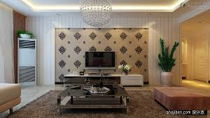 modern living room with tv on wall contemporary living room