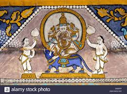 Mural Painting On Canvas by Mural Painting Of Lord Ganesh On Canvas Stock Photo Royalty Free
