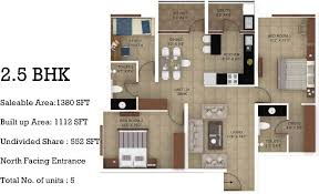 2 Bhk House Plan 1380 Sq Ft 2 Bhk Floor Plan Image Greystone Homes Llp Mirror On