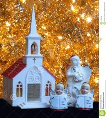 christmas decoration church and angels stock photography image