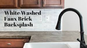 Brick Backsplash In Kitchen Gray Faux Brick Backsplash Backyard Decorations By Bodog