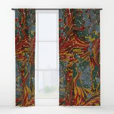 collage paper and vintage window curtains society6