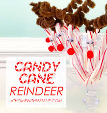 candy cane reindeer craft at home with natalie