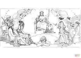 the council of the gods coloring page free printable coloring pages