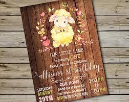 lamb invitation etsy