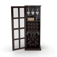 Kitchen Wine Cabinets Amazon Com Atlantic 94835842 Windowpane 24 Wine Cabinet Espresso