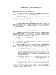 Sample Contract Letter Contract To Sell Pag Ibig Notary Public Civil Law Common Law