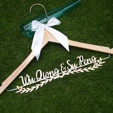 shop personalized wedding dress hangers for bride