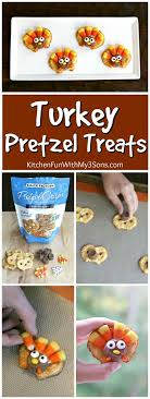 turkey rice krispie treats decorated for thanksgiving easy