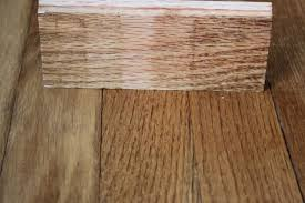 the staining to match existing hardwood flooring r u l y
