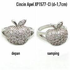 cincin lapis emas xp1577 ci cincin apel perhiasan lapis emas putih jual perhiasan