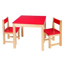 Childs Wooden Desk Wooden Table And Chair Set Red Easels U0026 Tables By Alex Toys