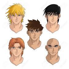 design hair game men man boy young heads anime manga comic cartoon fight game
