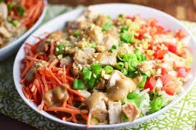 Salad Main Dish - thai chicken salad with peanut dressing simple sweet u0026 savory