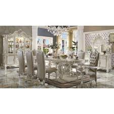 Royal Dining Room by Acme United Formal Versailles Bone White 9pc Set Royal Antique