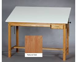 Mayline Oak Drafting Table Smi Professional Oak Wood Drafting Table F3648ot Tr Tiger