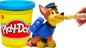 paw patrol chase stop motion play doh claymation plastilina playdo