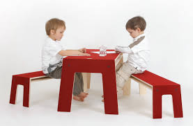 Kids Table And Chairs With Storage Charming Red Wooden Writing Table Added By Double Red Wooden Bench