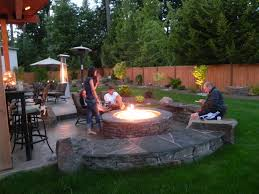 cute fire pit landscaping ideas design and curtain decorating