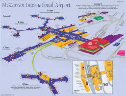 Map Of Los Angeles Airports Mapa Del Aeropuerto Internacional Mccarran De Las Vegas Las