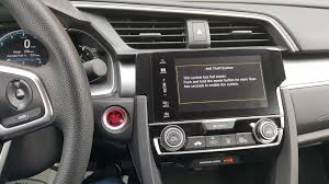 problem with touch screen display and radio settings honda civic
