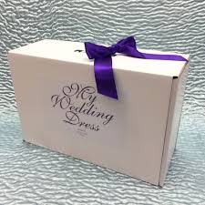 wedding dress storage small personalised wedding dress storage box with ribbon