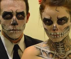 apply skull makeup