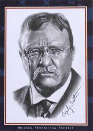 theodore roosevelt pastime portraits sketch card by