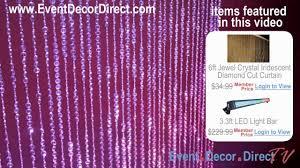 event direct decor event decor direct tv popular diamond cut irdidescent