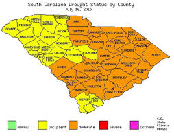 Map Of South Carolina Counties Drought Conditions Declared Over All Of South Carolina The State