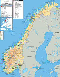 Geographical Map Of South America Physical Map Of Norway Ezilon Maps