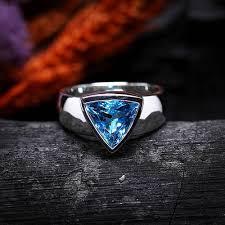 rings blue topaz images Mens blue topaz ring neele pukhraj ki angoothi seems collection jpg