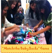 Funny Baby Shower Games For Guys - matching baby socks