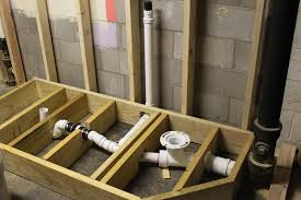 Installing Basement Shower Drain by Raised Bathroom The First Step In Building The Raised Drainage