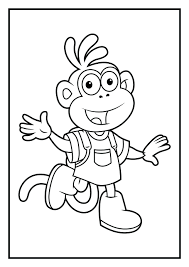 dora friends printable coloring pages explorer colouring