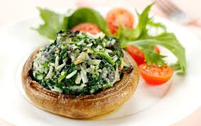 cheese and spinach baked mushrooms recipe goodtoknow