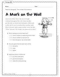 comprehension skills short passages for close reading grade 2