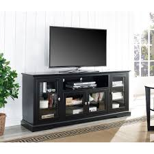 tall tv cabinet with doors walker edison furniture company black entertainment center hd70c32bl
