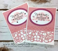 how to create a birthday card with the detail floral thinlits with