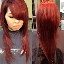 upside down v shape haircut hair style fashion