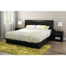 South Shore Twin Platform Bed South Shore Step One 2 Drawer King Size Platform Bed In Pure Black