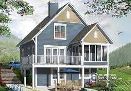 walkout house plans house plan w3929 v1 detail from drummondhouseplans com