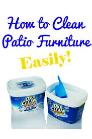 How To Clean Patio Chairs How To Clean Patio Furniture Patios Household And Organizing