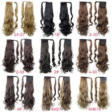 Long Blonde Wavy Hair Extensions by Heat Resistant Synthetic Long Lady 26inch Curly Wavy Ponytail