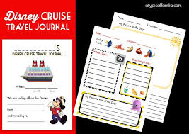 printable vacation journal pages disney cruise travel journal for kids free printable atypical