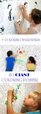 5 coloring wallpapers and 1 giant coloring poster for kids use