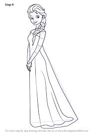 learn how to draw elsa from frozen frozen step by step drawing